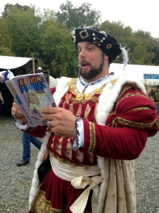 King Henry VIII treats the peasants to a dramatic reading.