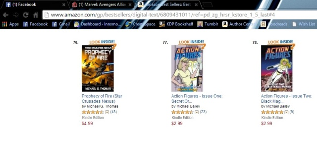 Book one AND two, on Amazon's charts!