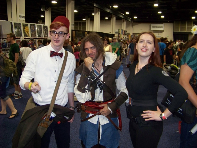 "Kate again as Black Widow (bonus fun fact: she is Russian, and she can kick your ass), my buddy Justin (the Jake Hawking series) in his award-winning Assassin's Creed outfit, and some guy who shouted ""Geronimo!"" a lot. Weirdo."