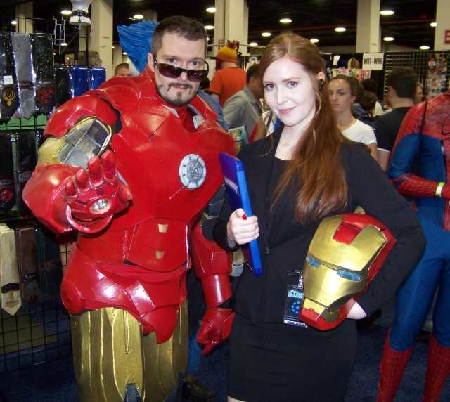My friend Laura as Pepper Potts (on the right, obviously).
