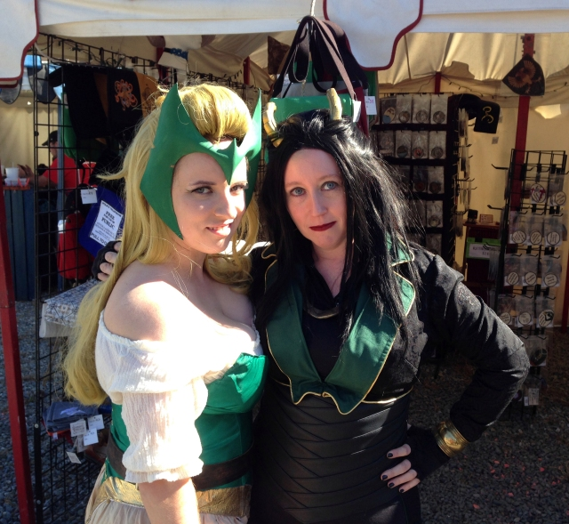 My wife in her Loki outfit and a friend as the Enchantress.