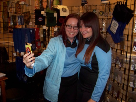 My wife and our friend Jillian of Emrys Finery.