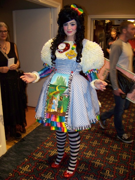 Here's Ebony Amber's other ensemble, the Wizard of Oz -- the entire story, not the character.
